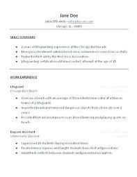 Resume For Lifeguard Lifeguard Resume Resume Lifeguard Job Resume