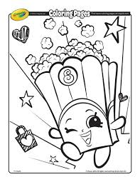 Print shopkins coloring pages for free and color our shopkins coloring! Shopkins Poppy Corn Coloring Page Crayola Com
