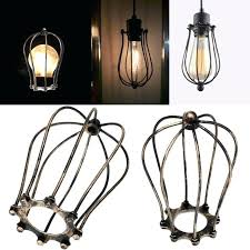 light cage guard vintage iron wire bulb cage lampshades hanging lamp holder guard shade industrial home