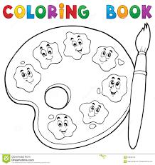 Th Me 2 De Palette De Peinture De Livre De Coloriage Illustration
