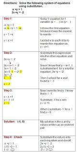 printable solving systems of equations worksheet elimination math worksheets substitution and