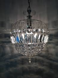 sphere chandelier strawberry shaped glass and crystal italy mid 20th century