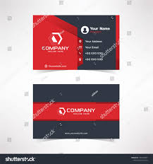 Red Design Company Modern Black Red Business Card Design Stock Vector Royalty