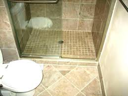 diy tile shower how to a floor without pan custom
