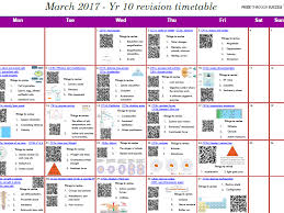 Exam Revision Timetable Template Gcse Timetable Resources Tes