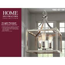 Home Decorators Collection 3 Light Pendant Boswell Quarter Collection Home Decorators Collection Boswell Quarter 14 In 3 Light