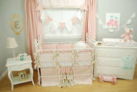 baby room teal crib bedding set baby girl crib decor 3 in 1 baby bed pink