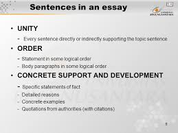 module sentences in essay matakuliah g writing iv tahun 9 9 sentences in an essay unity