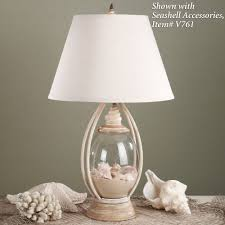 sea treasures fillable glass table lamp glass table lamps glass