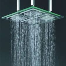 Contemporary 18 Inch LED Rainfall Glass Shower Head - T322
