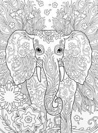 elephant zentangle coloring page see more amazon the art of marjorie sarnat elegant elephants coloring book