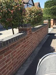 Brick Entrance Designs Driveway Contrasting Brick Over Tile Coping Brick Wall Gardens