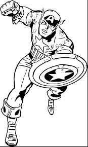 Captain America Shield Coloring Pages Free Coloring Library