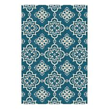 allen roth gaines dark turquoise rectangular indoor woven area rug common 8 x
