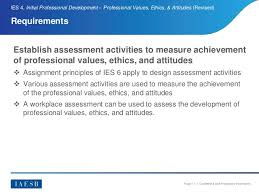 workplace values assessment ies 4 professional values ethics and attitudes