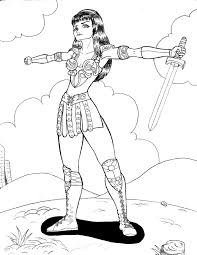 Show them your love and affection and let them show their artistic and creative sides. Xena Warrior Princess Coloring Pages
