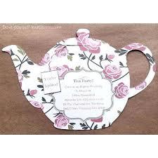 Tea Invitations Printable Digital Printable Tea Party Invitation Birthday Invite Handmade