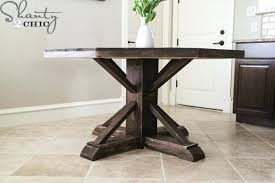 diy round dining table inspiring round wooden table for shanty 2 chic at hexagon dining diy dining table pedestal base