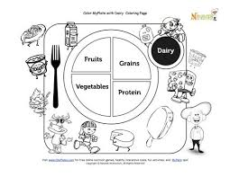 Small Picture My Plate Dairy Coloring Sheet Free National Nutrition Month 20625