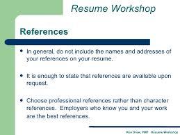 Do References Go On A Resumes Rdrew Resume Workshop