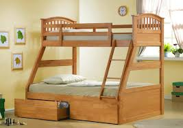 cream wooden bunk bed with shelves under the bed plus chair placed on the brown wooden 25 best ideas about bottom