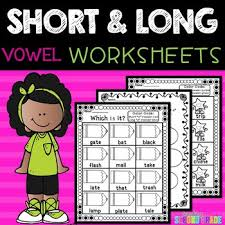 This set of short vowel worksheets has one for each of the short vowel sounds and kids are asked to fill in the missing short vowel to complete each of the words that go with the pictures. Short And Long Vowels Phonics Worksheets By Teaching Second Grade