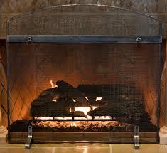 freestanding iron fireplace screen