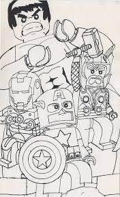 Small Picture Lego Avenger Coloring Pages Kids Coloring