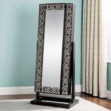 mirror armoire. jewelry armoire, mirrored lattice front mirror armoire c
