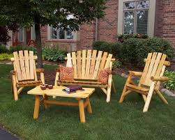 rustic wood patio furniture. Lawn Furniture Set Rustic Wood Patio D