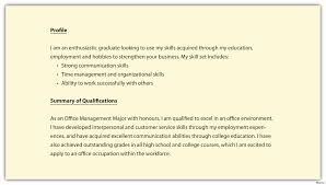 Sample Profile For Resume Luxury Profiles Examples For Resumes