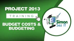 Microsoft Project 2013 Tutorial Budget Costs And Budgeting