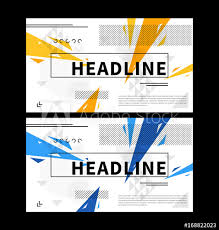 Abstract Cover With Colorful Elements Vector Illustration Title