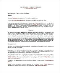 Indemnity Form Template Agreement Sample Free Wordpress ...