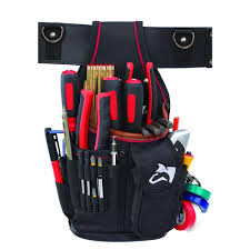 1 pocket triple snap tool pouch with leather
