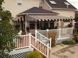 complete deck awnings patio canvas canopy globe