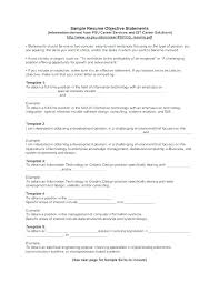 Resume Objective Examples For Any Job Sample Job Objectives Resume Cocinacolibri Com
