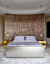bedroom interesting creative headboards for beds using wooden grey old door plus cone cream table