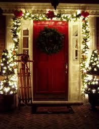 christmas front door decorationsDecoration Cozy Image Of Christmas Front Porch Decoration Design