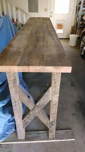 Reclaimed oak sofa table #barnwood #reclaimedwood #reclaimedtable