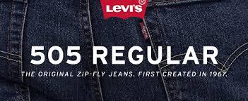 Free World Jeans Size Chart Levis Mens 505 Regular Fit Jean