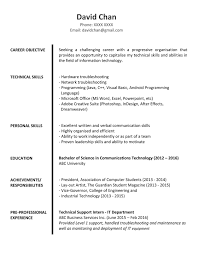 Resume Fresh Graduate Resume For Study