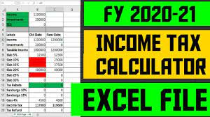 ine tax calculation fy 2020 21