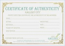 Luxury Certificate Of Authenticity Template Image Documentation