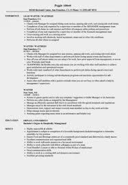 waitressing cv waitress cv full waitress resume sample mentallyright org