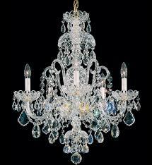 schonbek 6810 40s olde world 5 light silver swarovski elements crystal chandelier undefined