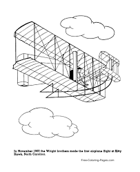 Kids will love drawing and coloring the airplanes coloring pages. Airplane Coloring Pages