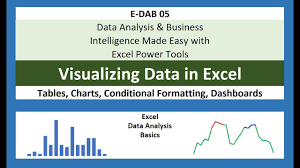 E Dab 05 Visualizing Data With Tables Charts Conditional Formatting Dashboards