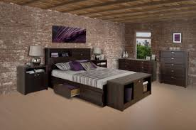 brick bedroom furniture. Bedroom Designer Furniture Feature Contemporary White Bed Traditional Rustic Brick Walls Design With Functional Headboard And Five P