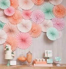 decorative wedding paper crafts 30cm 1pcs flower origami paper fan diy wedding birthday shower party decorations supplies kids in artificial dried flowers